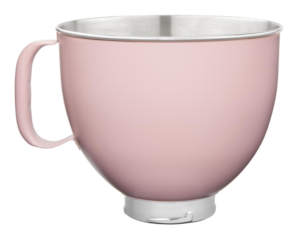 KitchenAid Edelstahlschüssel 4.8l rosa matt