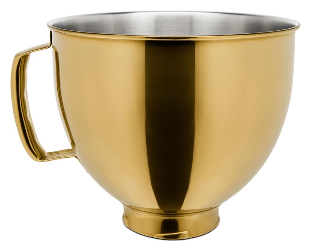 KitchenAid Edelstahlschüssel 4.8l gold glanz
