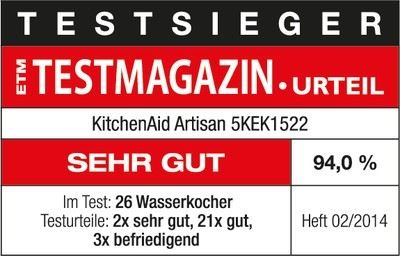 KitchenAid Wasserkocher Artisan 1.5l