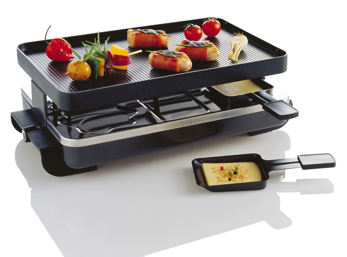 Novis 6er-Raclette-Grill anthrazit